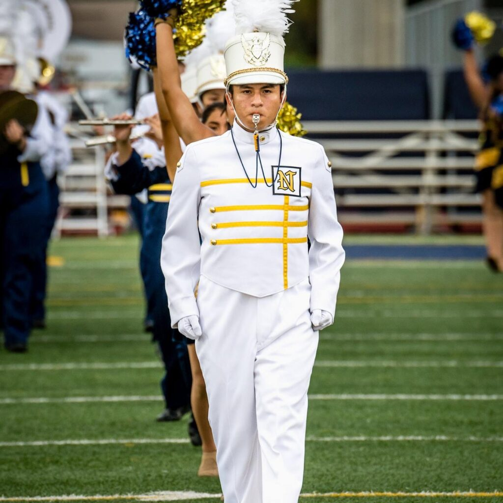 Drum Major for Naples High Band